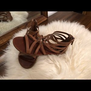 XOXO Brown Leather Sandals